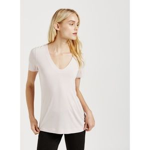 Kit and Ace V Tee, Nude, Size 4